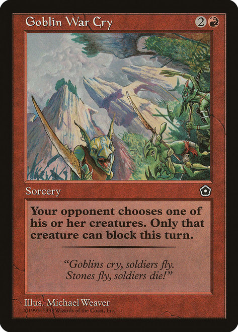Goblin War Cry - WOTC/Anson Maddocks