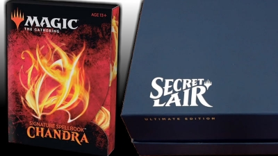 'Signature Spellbook: Chandra' and 'Secret Lair Ultimate Edition' are both coming out is 2020.