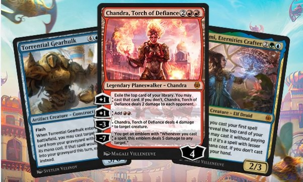 'Kaladesh Remastered' is a mash-up set of cards from the sets 'Kaladesh' and 'Aether Revolt'.