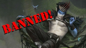 Oko, Thief of Crowns gets banned in both standard and brawl.